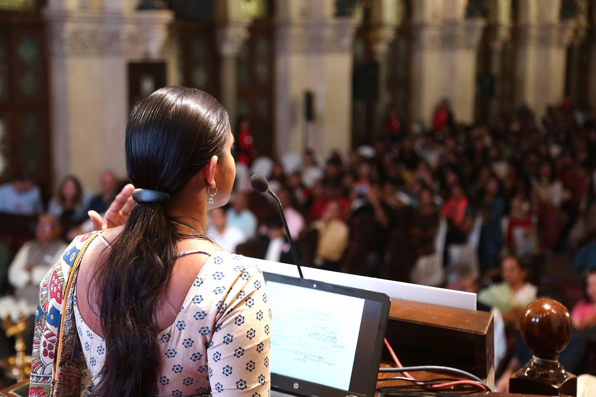 Presentation by Kavya at Typoday 2018. Photo Courtsey: Abhishek Sahane