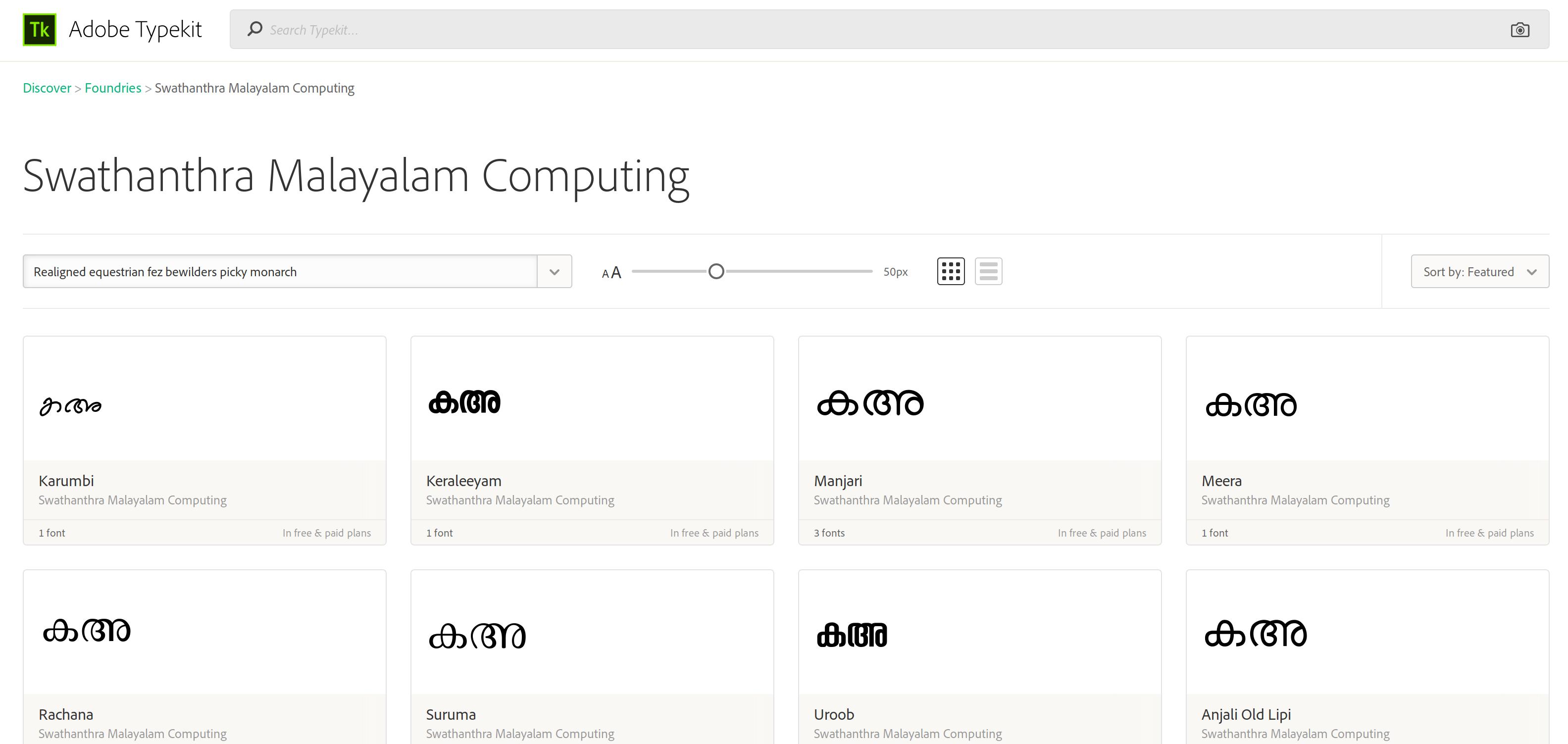SMC fonts in Adobe typekit