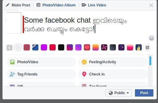 Swanalekha web extension in Facebook