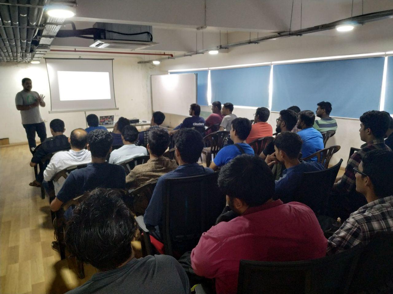 Balasankar sharing his experience.